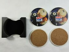 Set of 4 APA Coasters - Absorbent Ceramic Style Drink Coasters With Holder