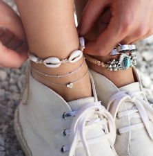 Beads Natural Shell Anklet Jewelry Boho Summmer Beach Anklet Womens Woven