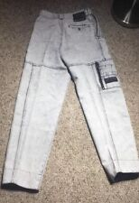 Vintage 90s WOMENS Bugle Boy Blue Jeans Acid Wash Cuffed Retro Unique