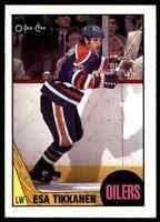 1987-88 O-Pee-Chee Rookie Esa Tikkanen RC . #7