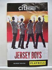 JERSEY BOYS Playbill JOSEPH LEO BWARIE / FRANKIE VALLI & THE FOUR SEASONS 2009