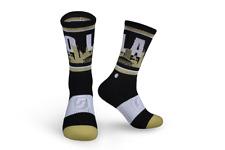 Football-NFL New Orleans Saints * For Bare Feet 4 Stripe Crew Socks Men's Size Large 10-13