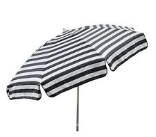 7.5 ft Italian Black & White Striped Patio Umbrella Tilt Shade Market Bistro