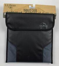 LL Bean Excursion II Tablet eReader iPad Case Black Rip Stop Fabric