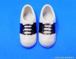Skipper Doll sized Black & White Shoes MINTY ~ Vintage 1970's