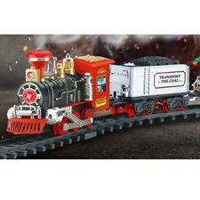 Remote Control Christmas Train Set - Lights, Sound, & Real Smoke - Birthday Gift