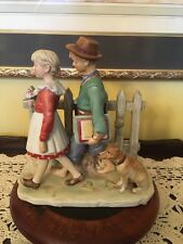 """1St Edition Norman Rockwell Fall Figurine """"A Scholarly Pace"""" -Japan"""