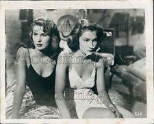 1951 Actress Silvana Mangano Doris Dowling in Bitter Rice Press Photo