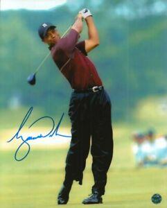 Tiger woods Signed Photo COA Pro Golfer World Golf Hall of Fame Greatest Golfer