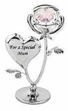 Crystal Ornament Gift Set Crystocraft With Swarovski Strass Rose Flower for MUM