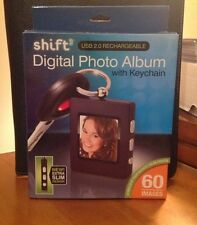 Shift Digital Photo Album with Keychain Rechargeable Extra Slim 60 Images NIB