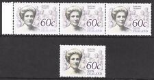 New Zealand 1990 Heritage 60c strip 3 with pale colour + normal, UM.
