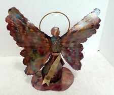 Jay L. Tschudy Metal Sculpture Angel Candle Holder Signed COA
