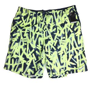 Nike REPEL Men's Swimsuit Swim Trunks Shorts Size 4XLT Yellow Black NWT