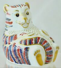 ROYAL CROWN DERBY TIGER CUB IMARI RETIRED PAPERWEIGHT EXCELLENT CONDITION '2ND'