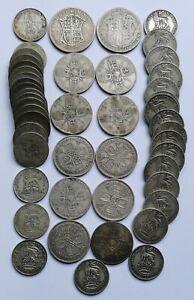 British Silver Lot Pre 1947 (335 Gms) Scrap, Collect, or Resale