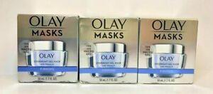 3 PK Olay Masks Overnight Gel Mask W / Vit A ~ Firming ~ FAST FREE SHIP