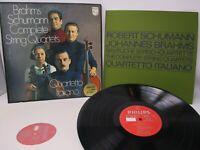 Brahms Schumann String Quartets Quartetto Italiano 3 LP Box Philips 1971