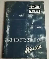 Morris Marina Owner's Handbook 1.3 and 1.8 Book Issued 1978