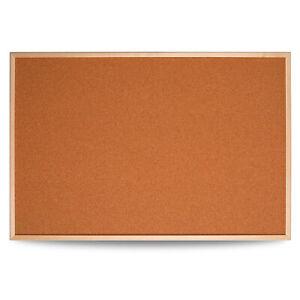 Cork Board Pin Message Notice Pine Frame Office Memo School Pinboard 90x60cm