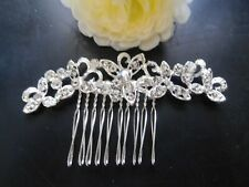 Hair Clip Comb Accessories Flower Faux Crystals New Women Teens Girls Bridal