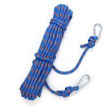 49FT(15M) 10mm Diamete 300kg Safety Climbing Rope Outdoor Rappelling Auxiliary