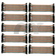 10 Pcs Dupont Wire Connector Cable 2.54mm Male to Male 40 Pin 20cm 1P-1P