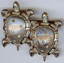 Coro Vintage Argent Jelly Belly Tortue Duette Broche Clip