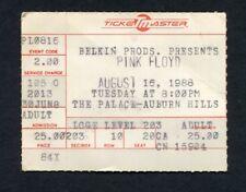 1988 Pink Floyd concert ticket stub Momentary Lapse of Reason Auburn Hills MI