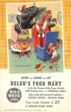 PITTSFIELD, MA, HELEN'S FOOD MART ADV PC, ARTIST LAWSON WOOD IMAGE used 1954