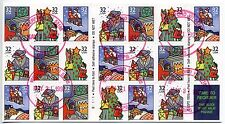 #3113-3116a Holiday Celebration 32¢ Booklet Pane of 20 - B1111 - USED