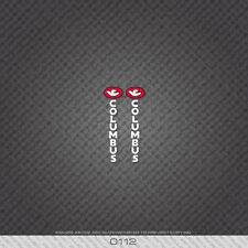 0112 Columbus forcella Bicicletta-Decalcomanie-trasferimenti-Bianco