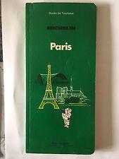 GUIDE VERT MICHELIN PARIS 1983 GUIDE TOURISME PNEU