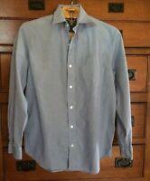 Banana Republic Shirt Blue Button Front long Sleeve SZ 15 15 1/2 Mens