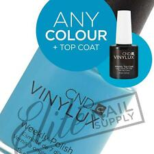 CND VINYLUX Weekly Polish 15ml Any Single Colour + Top Coat