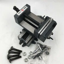 """3"""" Cross Drill Press Vise X-Y Clamp 2 Way Drilling Sliding Fixture 100*300mm"""
