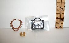 MATTEL LOT OF BARBIE DOLL JEWELRY PURSE BLACK & GOLD ACCESSORY LOT
