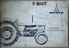 Deutz Schlepper D 8005  Ersatzteil Liste