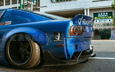 FRP ROCKET BUNNY WIDE-BODY AERO STYLE REAR OVER FENDER FLARES FOR NISSAN 180SX