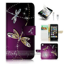 ( For iPhone 5 / 5S / SE ) Wallet Case Cover! P1844 Dragonfly