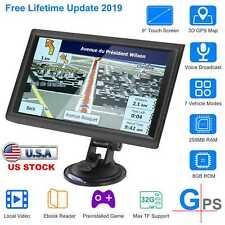"5""/7""/9"" Car Truck GPS Navigation 8GB 56MB RAM Touch Screen Navigator w/Free Map"