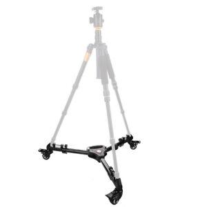 Universal Photography Heavy Duty Tripod Dolly w/ Wheels Adjustable Leg Mount