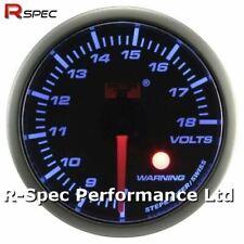 52mm Blue Stepper Motor Warning 12V Volt Voltage Gauge Meter With Warning Light