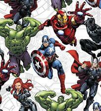 Marvel Comics en tissu de coton super héros HULK THOR Craft Quilting FQ par la m