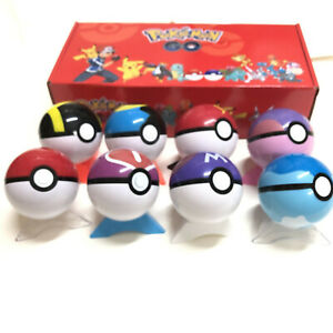 8 Pokeball Gift Set Pokemon GO Ball Action Figures Toy