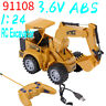 1:24 5 Channel RC Digger Excavator Construction Truck Model Toy Kids Gifts