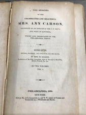 The Memoirs of the Celebrated and Beautiful Mrs. Ann Carson - RARE book