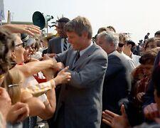 Senator Robert F. Kennedy shakes hands at Orange County Airport New 8x10 Photo