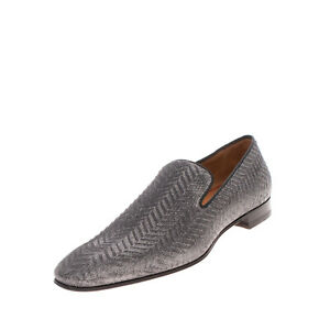 RRP €905 CHRISTIAN LOUBOUTIN Loafer Shoes EU 44 UK 10 US 11 Textured Lame Effect