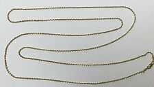 "SOLID 14K YELLOW GOLD 35""  CHAIN 8 GRAMS"